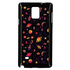 Space Pattern Samsung Galaxy Note 4 Case (black) by ValentinaDesign