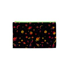 Space Pattern Cosmetic Bag (xs) by ValentinaDesign