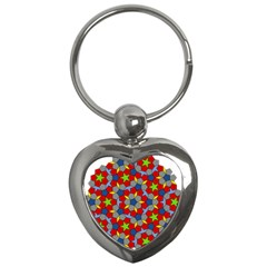 Penrose Tiling Key Chains (heart)  by Nexatart