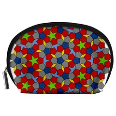Penrose Tiling Accessory Pouches (large)  by Nexatart