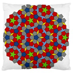 Penrose Tiling Large Flano Cushion Case (two Sides) by Nexatart