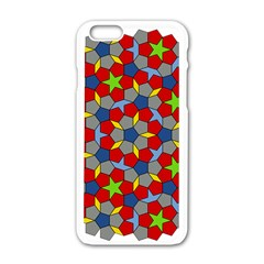Penrose Tiling Apple Iphone 6/6s White Enamel Case by Nexatart