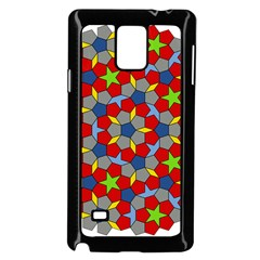 Penrose Tiling Samsung Galaxy Note 4 Case (black) by Nexatart