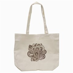 Henna Line Art Clipart Tote Bag (cream) by Nexatart