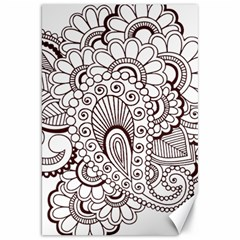 Henna Line Art Clipart Canvas 20  X 30