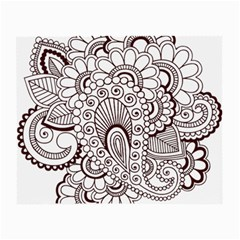 Henna Line Art Clipart Small Glasses Cloth (2-Side) by Nexatart