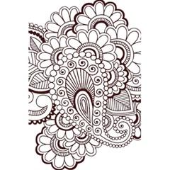 Henna Line Art Clipart 5 5  X 8 5  Notebooks by Nexatart