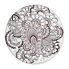 Henna Line Art Clipart Round Filigree Ornament (two Sides) by Nexatart