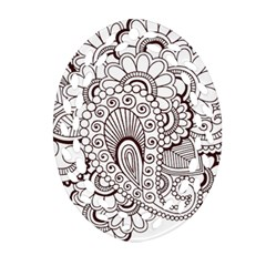 Henna Line Art Clipart Oval Filigree Ornament (two Sides) by Nexatart