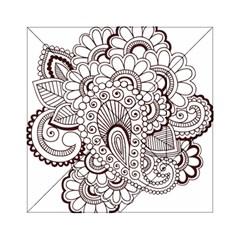 Henna Line Art Clipart Acrylic Tangram Puzzle (6  X 6 ) by Nexatart