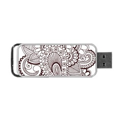 Henna Line Art Clipart Portable Usb Flash (one Side) by Nexatart