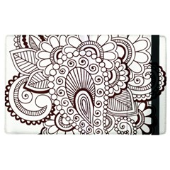 Henna Line Art Clipart Apple Ipad 2 Flip Case