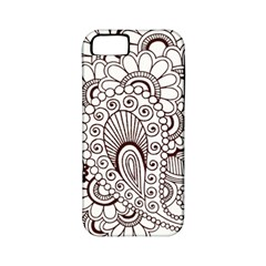 Henna Line Art Clipart Apple Iphone 5 Classic Hardshell Case (pc+silicone) by Nexatart