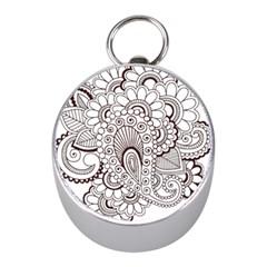 Henna Line Art Clipart Mini Silver Compasses by Nexatart