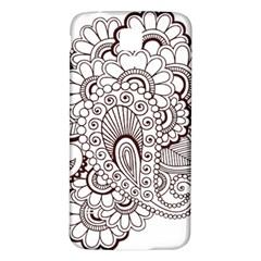 Henna Line Art Clipart Samsung Galaxy S5 Back Case (white) by Nexatart