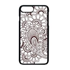 Henna Line Art Clipart Apple Iphone 7 Plus Seamless Case (black) by Nexatart