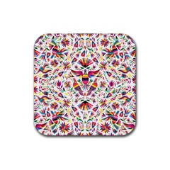 Otomi Vector Patterns On Behance Rubber Square Coaster (4 Pack)  by Nexatart