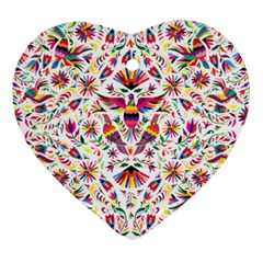 Otomi Vector Patterns On Behance Heart Ornament (two Sides)