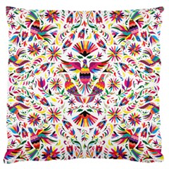 Otomi Vector Patterns On Behance Large Cushion Case (one Side)