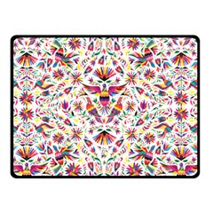 Otomi Vector Patterns On Behance Double Sided Fleece Blanket (small)