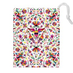 Otomi Vector Patterns On Behance Drawstring Pouches (xxl) by Nexatart