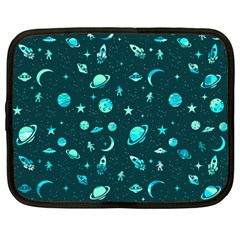 Space Pattern Netbook Case (xxl)  by ValentinaDesign