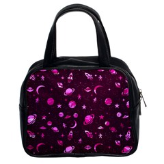 Space Pattern Classic Handbags (2 Sides) by ValentinaDesign