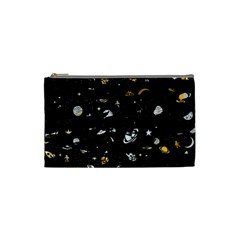 Space Pattern Cosmetic Bag (small)  by ValentinaDesign