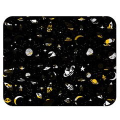 Space Pattern Double Sided Flano Blanket (medium)  by ValentinaDesign