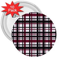 Plaid Pattern 3  Buttons (10 Pack)  by ValentinaDesign