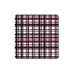 Plaid Pattern Square Magnet by ValentinaDesign