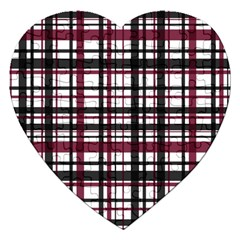 Plaid Pattern Jigsaw Puzzle (heart) by ValentinaDesign
