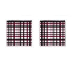 Plaid Pattern Cufflinks (square) by ValentinaDesign