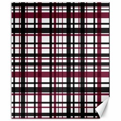 Plaid Pattern Canvas 8  X 10  by ValentinaDesign