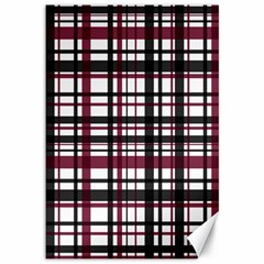 Plaid Pattern Canvas 12  X 18   by ValentinaDesign