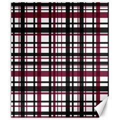 Plaid Pattern Canvas 20  X 24   by ValentinaDesign