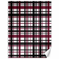 Plaid Pattern Canvas 36  X 48   by ValentinaDesign