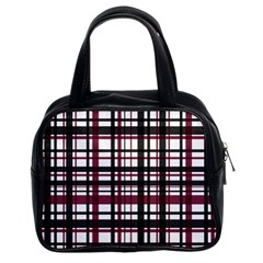 Plaid Pattern Classic Handbags (2 Sides) by ValentinaDesign
