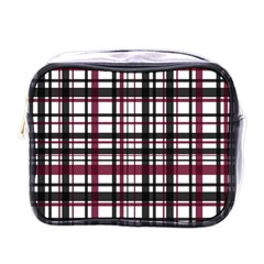 Plaid Pattern Mini Toiletries Bags by ValentinaDesign