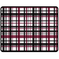 Plaid Pattern Fleece Blanket (medium)  by ValentinaDesign