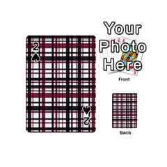 Plaid Pattern Playing Cards 54 (mini)  by ValentinaDesign