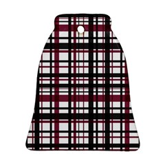 Plaid Pattern Ornament (bell) by ValentinaDesign