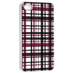 Plaid Pattern Apple Iphone 4/4s Seamless Case (white) by ValentinaDesign