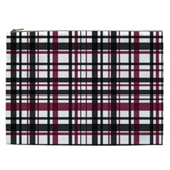 Plaid Pattern Cosmetic Bag (xxl)  by ValentinaDesign