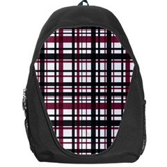 Plaid Pattern Backpack Bag by ValentinaDesign