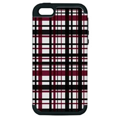 Plaid Pattern Apple Iphone 5 Hardshell Case (pc+silicone) by ValentinaDesign