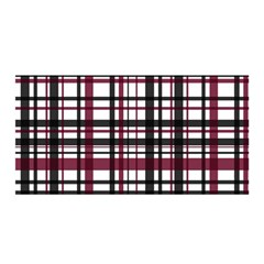 Plaid Pattern Satin Wrap by ValentinaDesign
