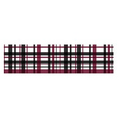 Plaid Pattern Satin Scarf (oblong) by ValentinaDesign