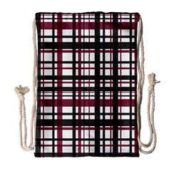 Plaid Pattern Drawstring Bag (large) by ValentinaDesign