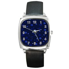 Decorative Dots Pattern Square Metal Watch by ValentinaDesign